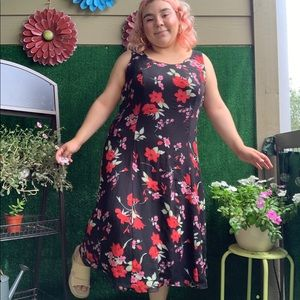 Red Floral Dress by Studio 1